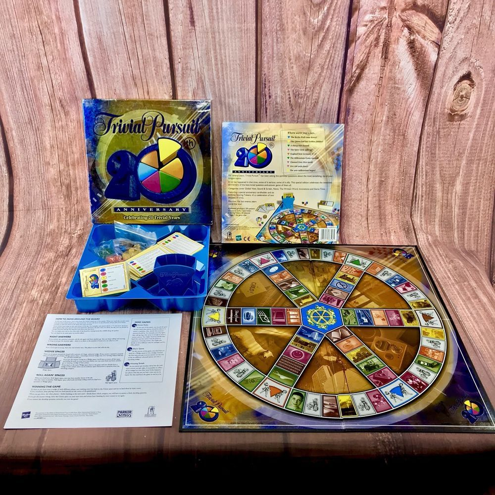 Trivial Pursuit 20Th Anniversary Edition Family Board Game