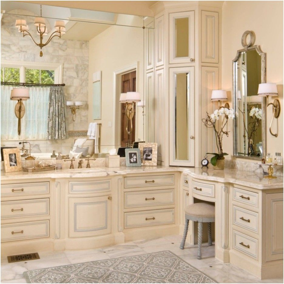 Inspirational Cream Bathroom Cabinets