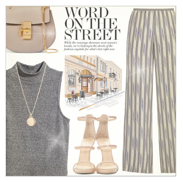 """Word on the Street"" by anilovic ❤ liked on Polyvore featuring BCBGMAXAZRIA, H&M, NLY Accessories, Giuseppe Zanotti and Chloé"