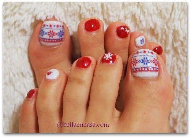 Fotos de decoraciones de u as para pies painted toes - Decoraciones de unas ...