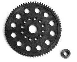 Traxxas 32P Spur Gear,72T:NR,NSP,TMX.15,2.5 TRA4472 by Traxxas. $4.55. In an effort to always improve their product, the white plastic bushing once included with the T-MAXX spur gear has been replaced with a metal bushing. The addition of a metal bushing increases the durability and longevity of the T-MAXX spur gear.
