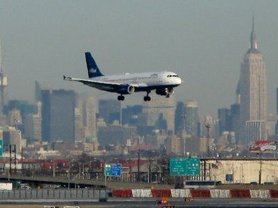 Newark, New Jersey airport was.....exciting....scary