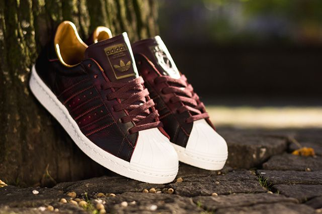 ADIDAS ORIGINALS SUPERSTAR 80S (NIGHT RED) | Sneaker Freaker ...