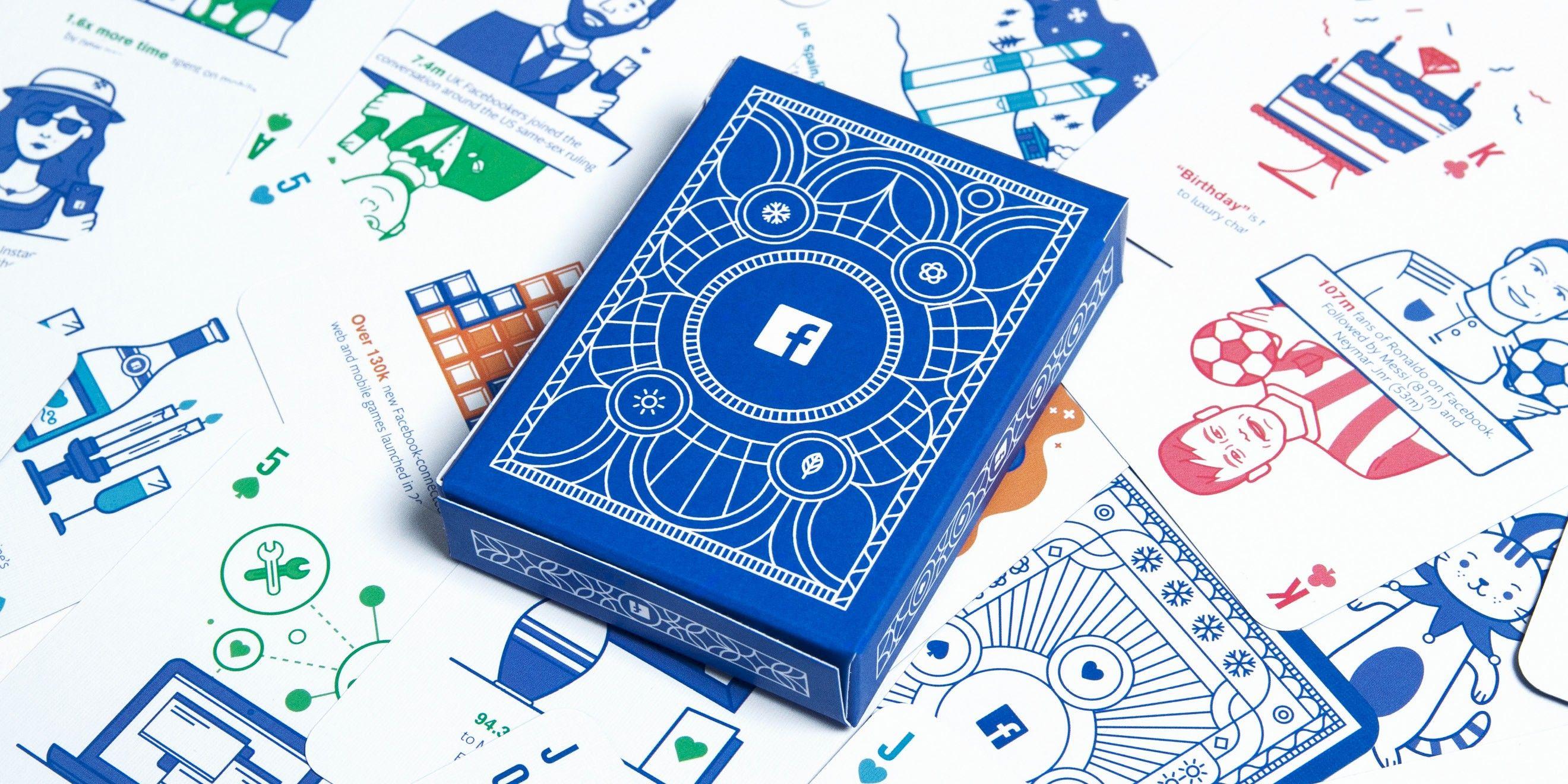 Baraja de cartas Facebook