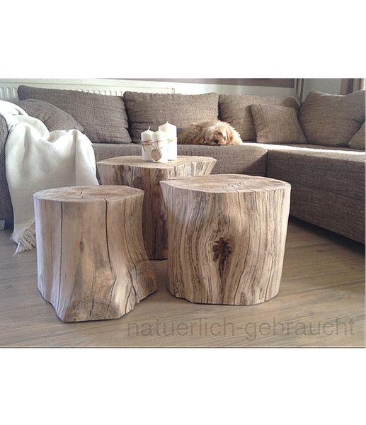 Beistelltische Baumstamm Beistelltisch Buche Ein Designerstuck