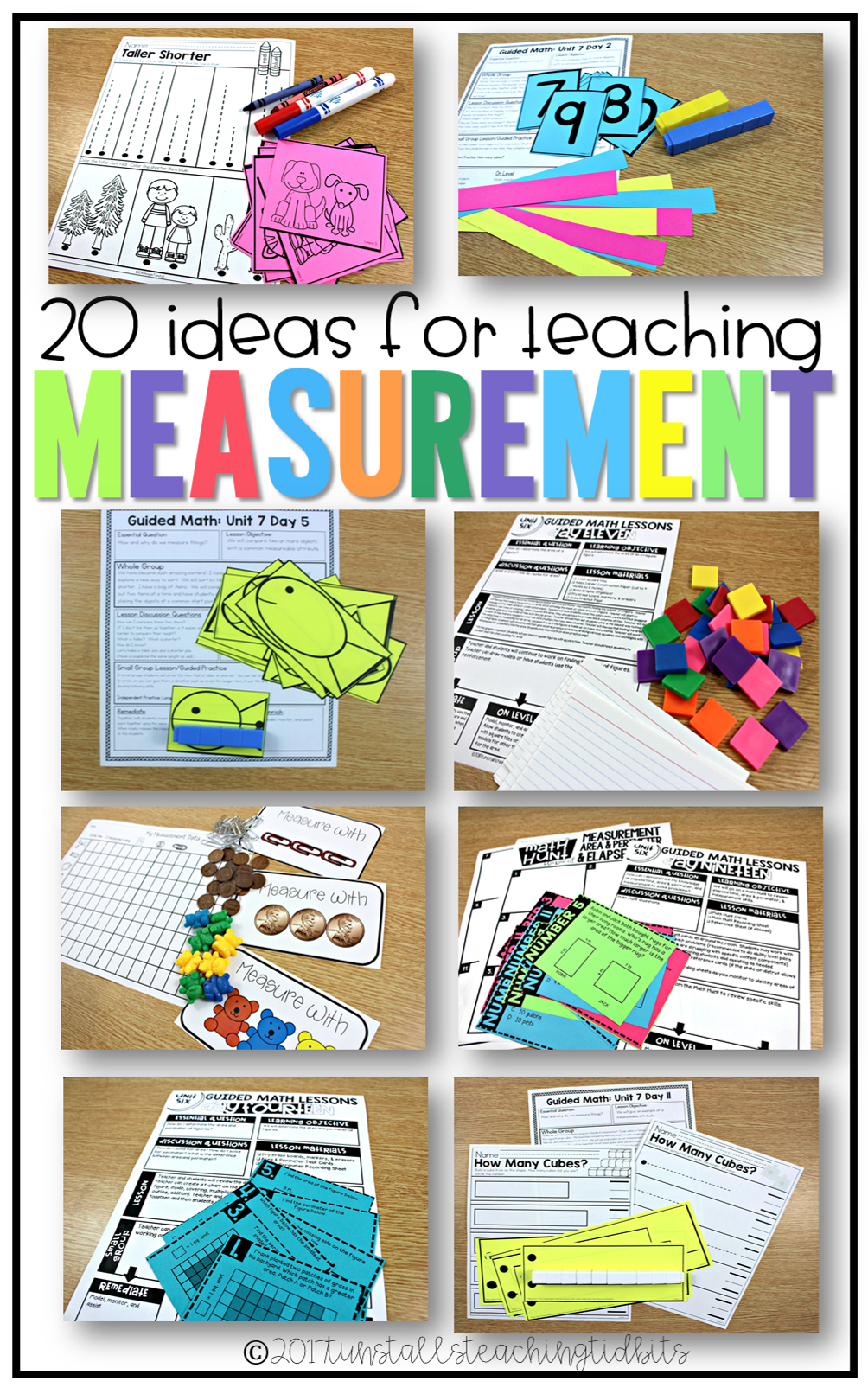 20 ideas to teach measurement in kindergarten, 1st, 2nd, and 3rd grade- there are so many fun activities here!