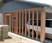 convert carport into garage - Google Search
