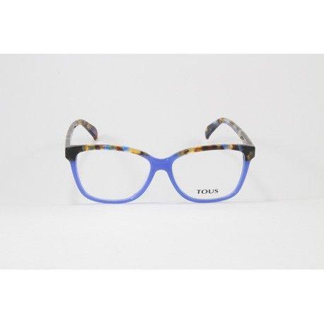 fed2ca3a4 Original gafa de vista Tous en pasta fina azul y jaspeado en la ceja y las
