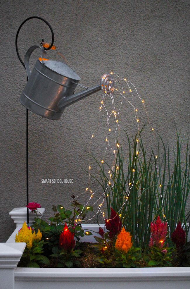 Watering Can With Lights Video Diy Garden Projects