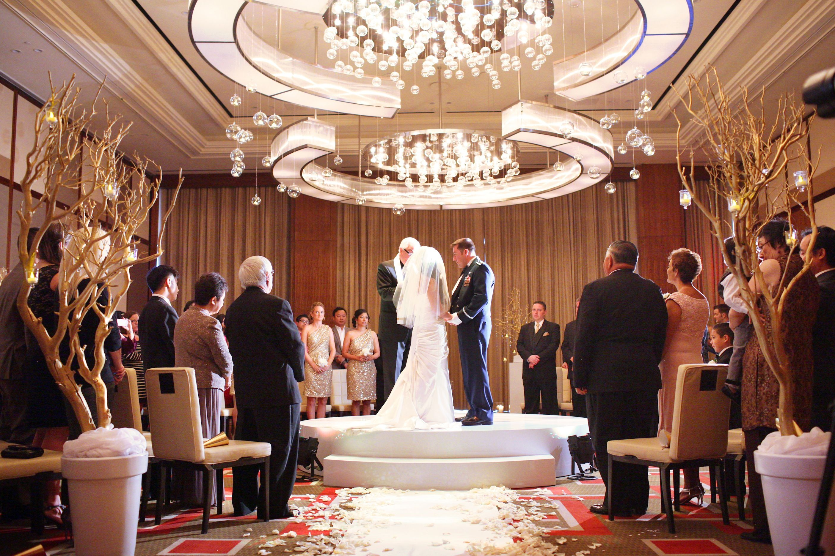 Las Vegas WeddingLas Wedding Planner Mandarin Oriental Gold Military