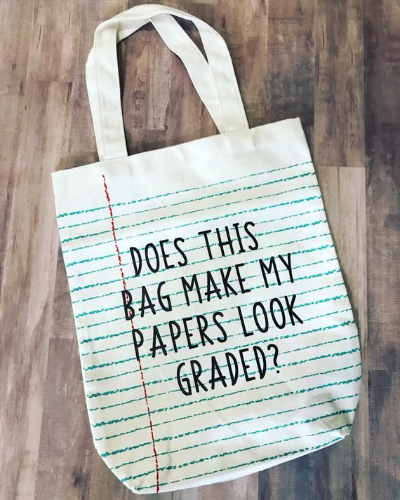 Personalized Teacher Tote Bag for Teacher Appreciation Gift, Back to School Gift, Teacher Appreciation Gift, Student Gift to Teacher #teachergifts