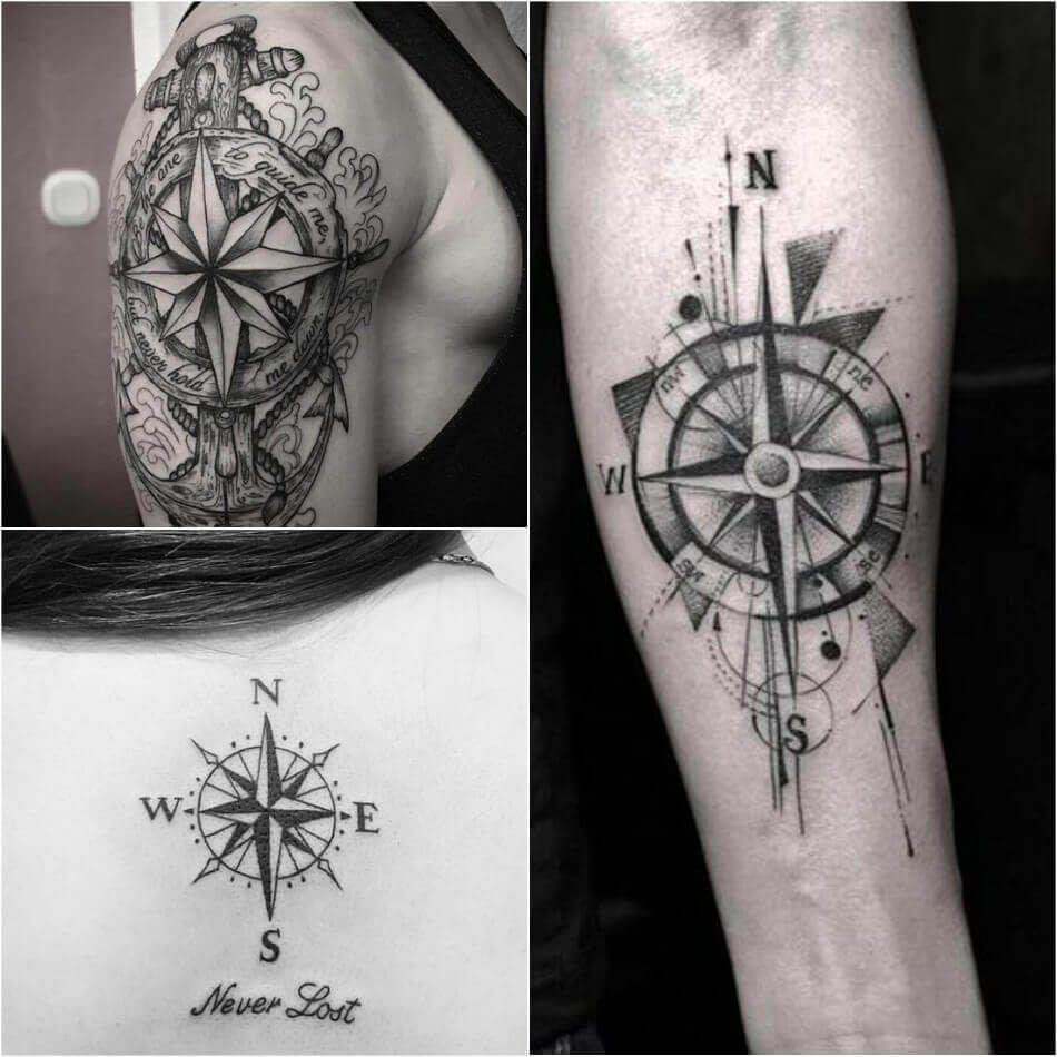 Compass Tattoo Designs Popular Ideas For Compass Tattoos With Meaning Compass Tattoo Compass Rose Tattoo Nautical Compass Tattoo