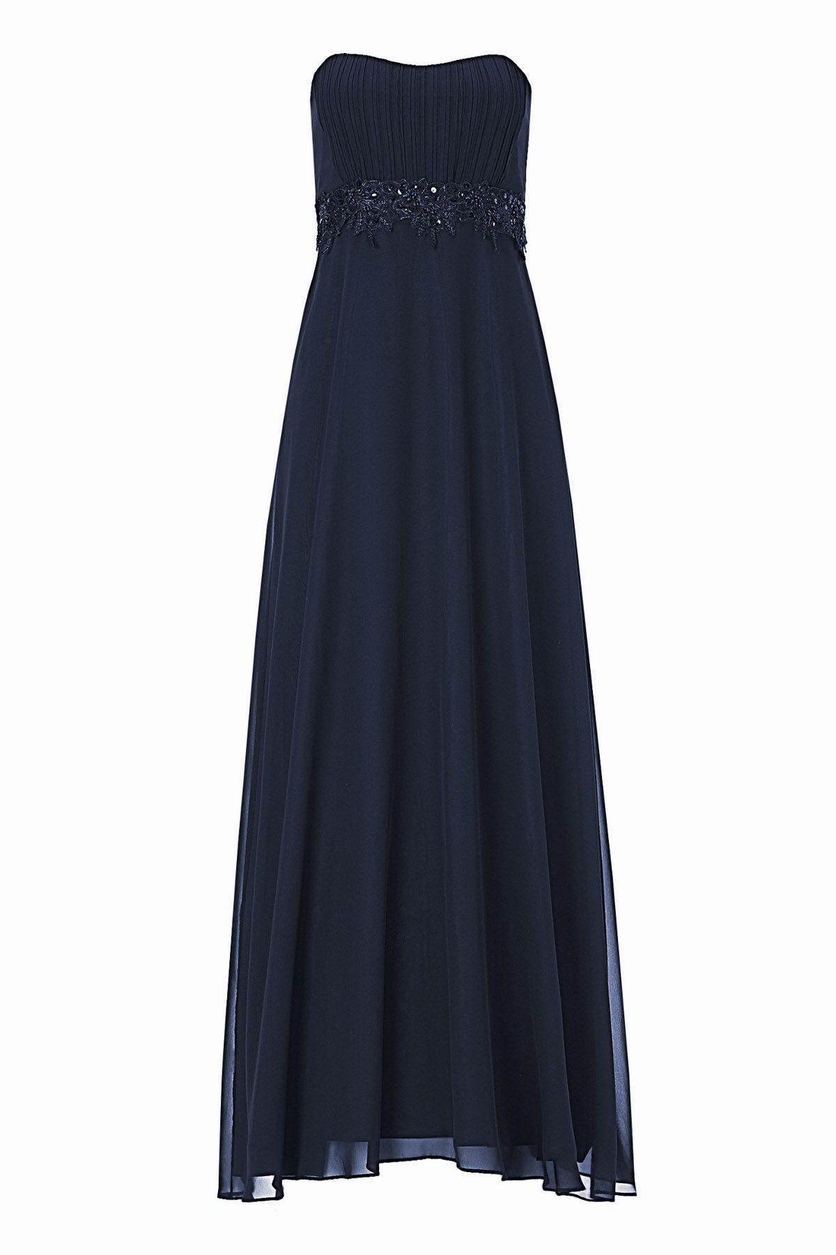 Abendkleid Chiffon dunkelblau Vera Mont  Mode Bösckens