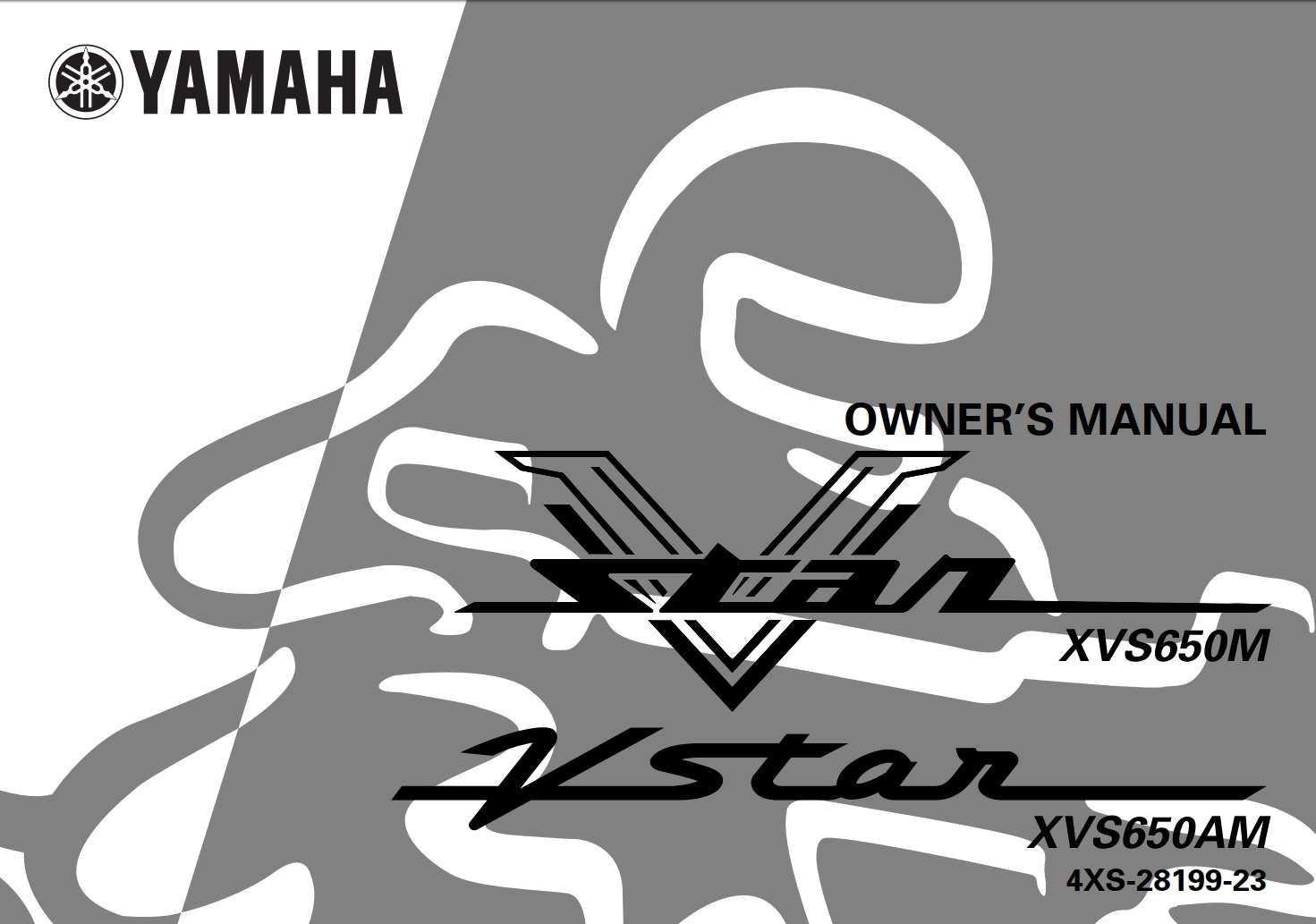 Yamaha Xvs650 M Am 2000 Owner S Manual In 2020 Yamaha Manual Owners