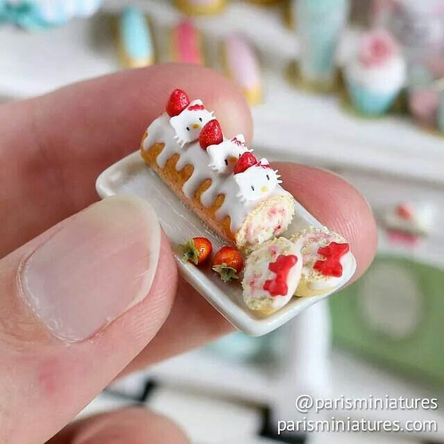 Mini rolled cake