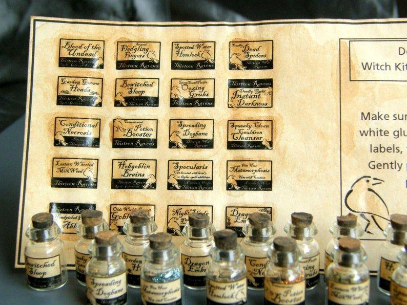 14 maison de poupées autre Miniature Apothecary Labels Set 1