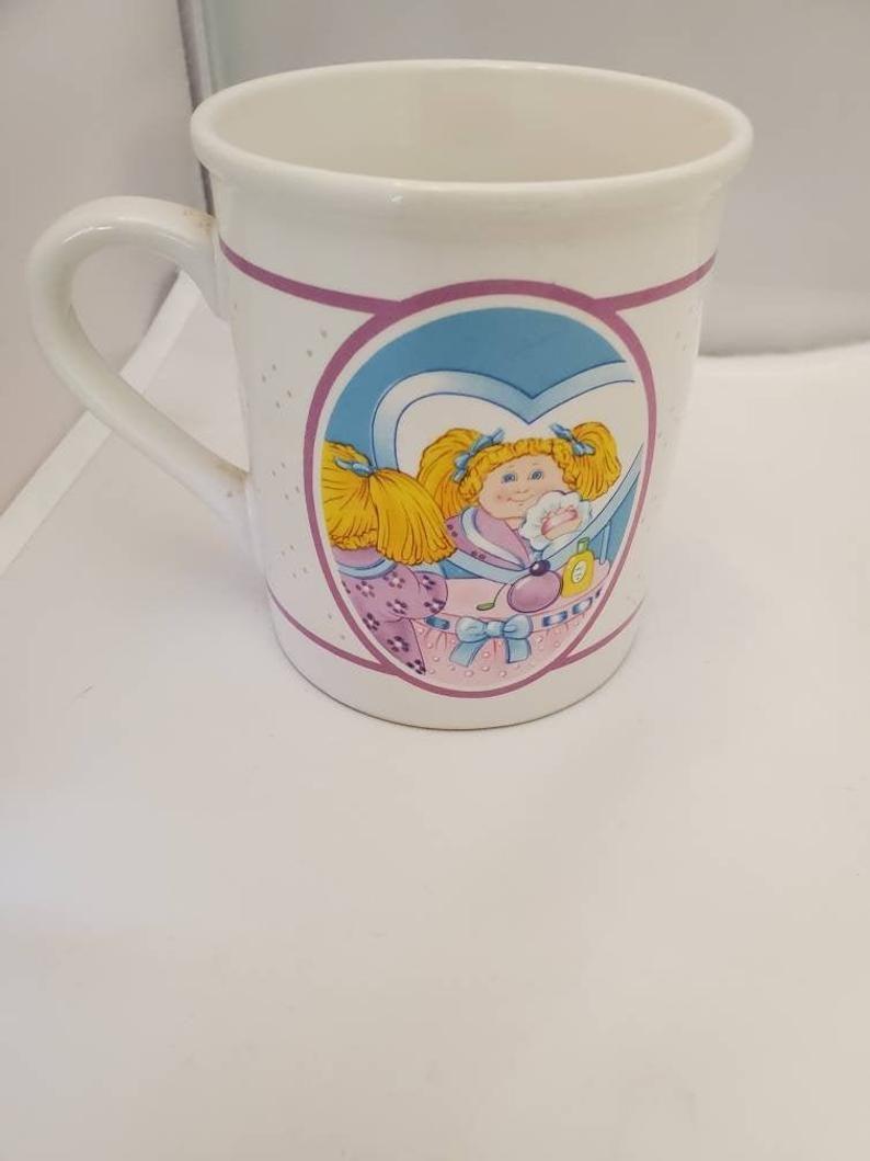 Vintage Cabbage Patch Kids Mug 1985 Drinkware Children S Etsy Cabbage Patch Kids Childrens Mugs Patch Kids