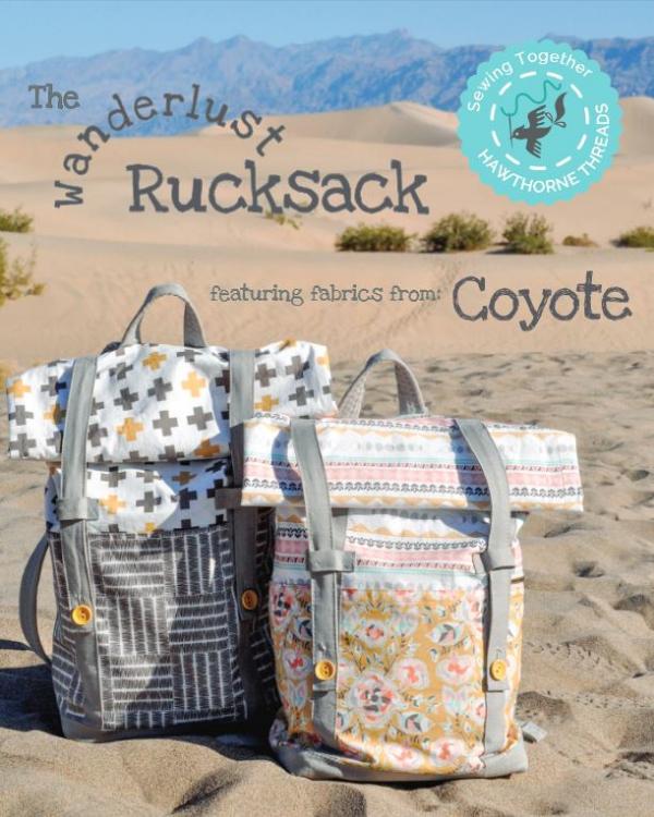 Wanderlust rucksack - free pattern | Nähmuster, Hinzufügen und Rucksäcke