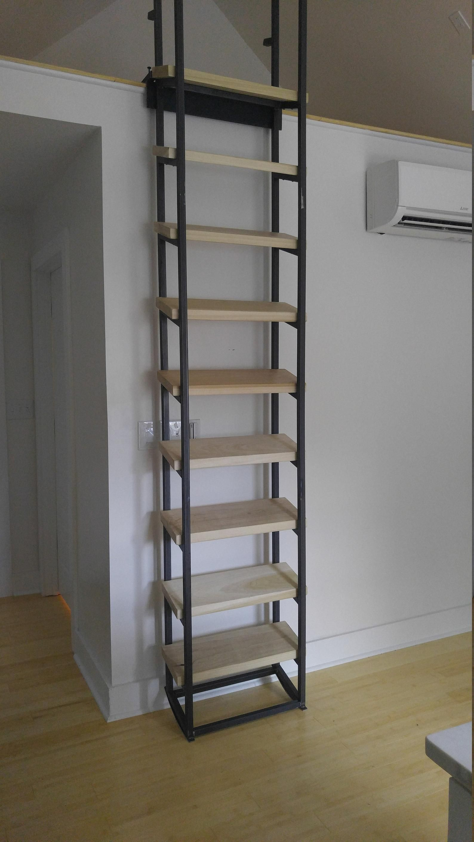 9 Foot Retractable Loft Ladder Free Shipping To Your Door In 2020 Loft Ladder Stairs Design Loft Interiors