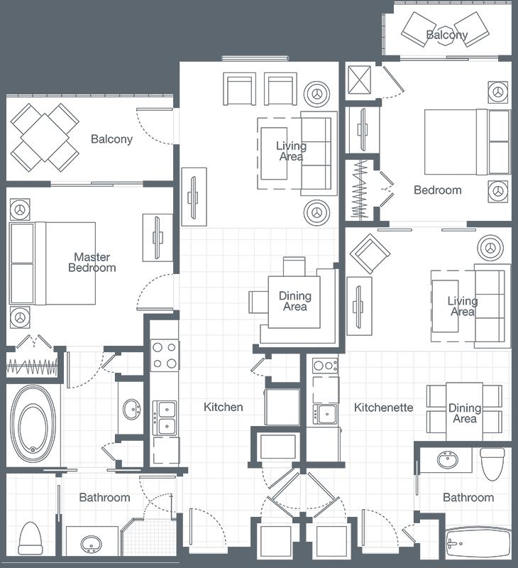 Sheraton Broadway Plantation Two Bedroom Interior Lockoff Villa