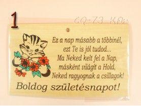 f435b97a32 Okoskodó fatábla Szülinapi köszöntő idézet | lakásdekor | Birthday ...