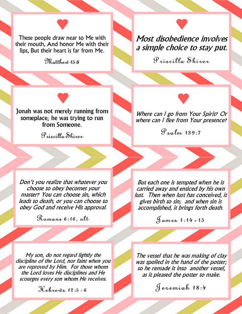 Printable Memory Verse Cards Valentines design Jonah theme – Valentines Card Verses