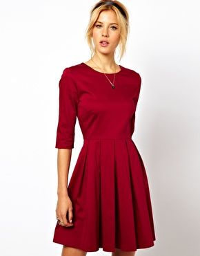 ASOS Skater Dress With Pleated Skirt | Want. | Pinterest | Best ...