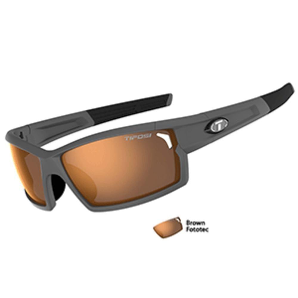 Tifosi Camrock Matte Gunmetal Fototec Sunglasses - Brown Fototec ...