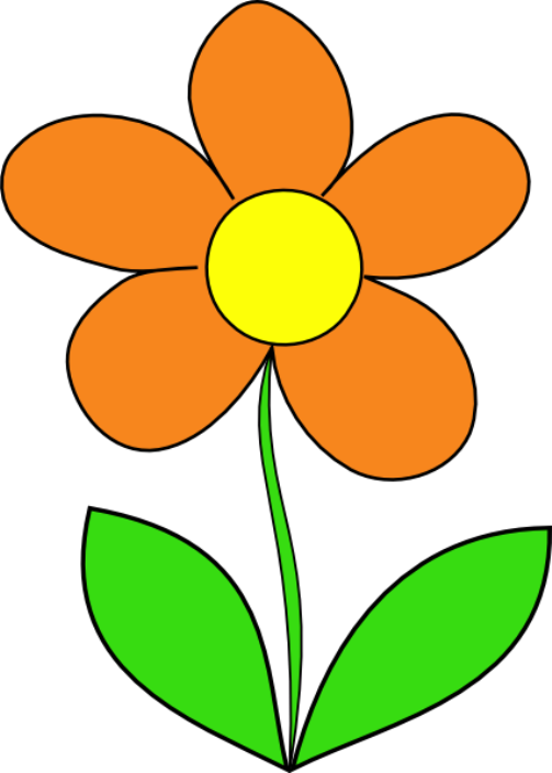 Gambar Bunga Kartun Sederhana Bunga Kartun Bunga Matahari