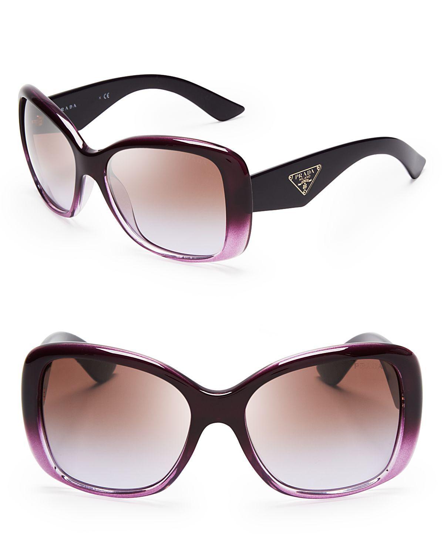 21e30db7caa5b Prada Galleria Triangle Logo Sunglasses in Purple (Violet)