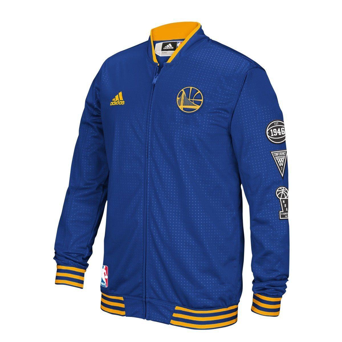 Amazon.com   Golden State Warriors Adidas 2015 NBA Men s On-Court Warm-Up  Full Zip Jacket   Sports   Outdoors d0b8a846e