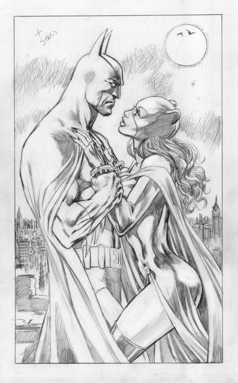 Batman and Catwoman by Alan Davis. | Batman and friends | Pinterest ...