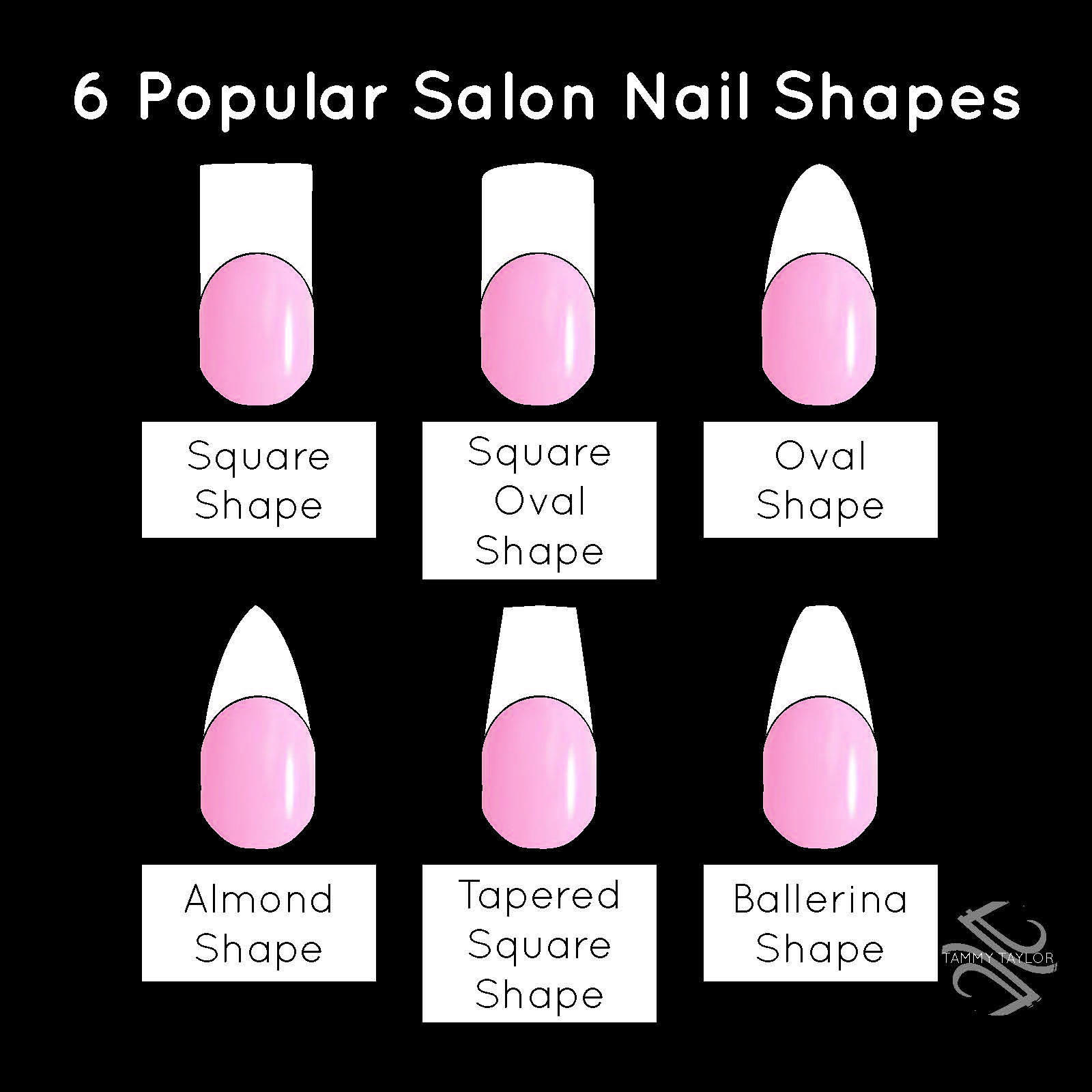 Tammy Taylor 6 Popular Salon Nail Shapes! Square Nails