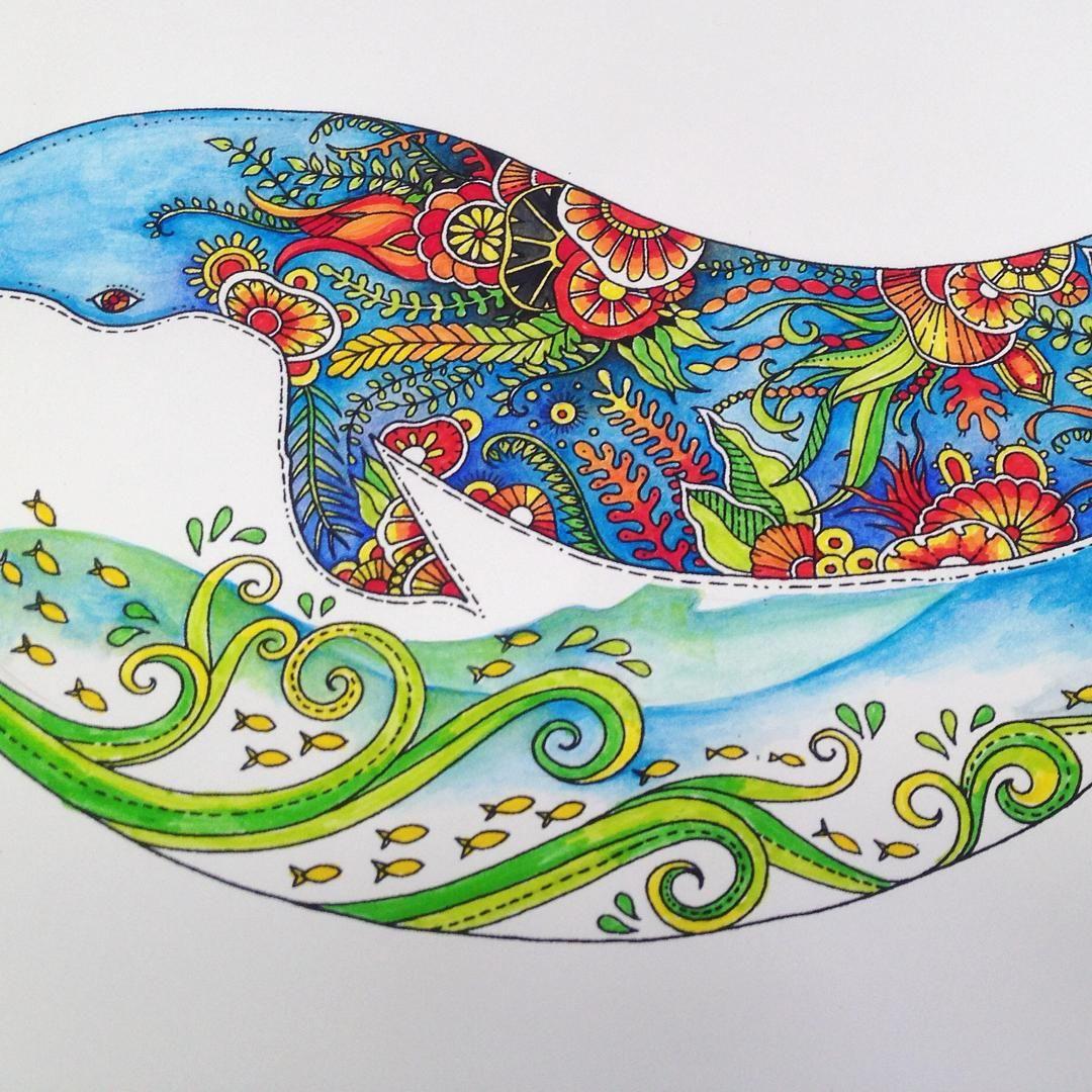 Thục Uyen On Instagram One Of Lost Ocean Coloring Book Johannabasford Lostocean Daiduongmattich Coloring Lost Ocean Coloring Book Ocean Colors Lost Ocean