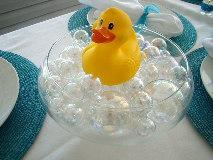 Bath Time Baby Shower Theme Table Decoration Party