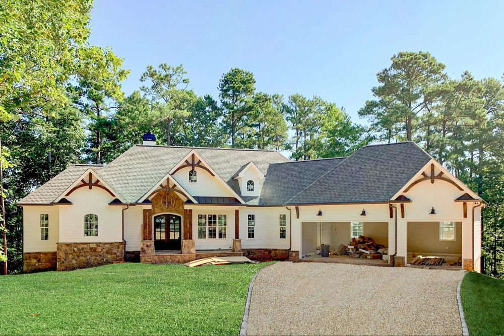 Plan 24392TW: One-Story Country Craftsman House Plan with Screened Porch