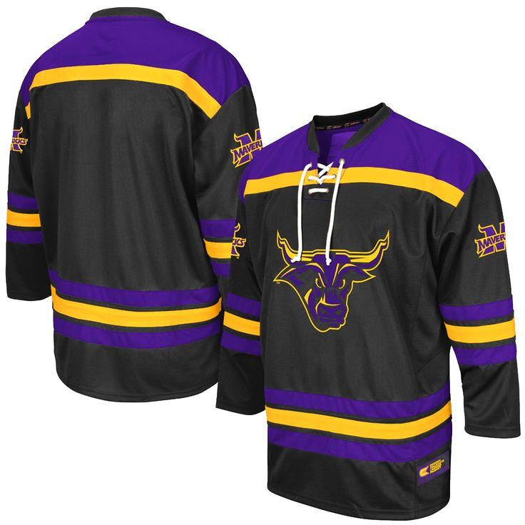 half off fc8eb 9cddf Minnesota State Mavericks Colosseum Hockey Jersey - Purple ...