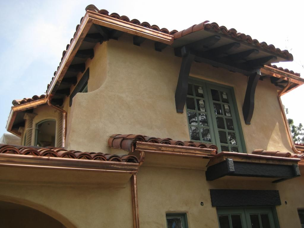 house gutters spanish house gutters