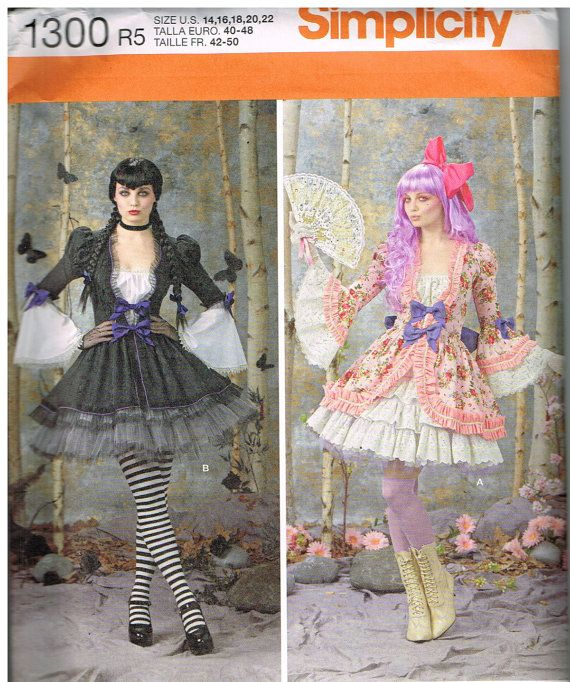 Victorian Steampunk Circus Costume Sewing Pattern Amy Brown Size 14 16 18 20 22