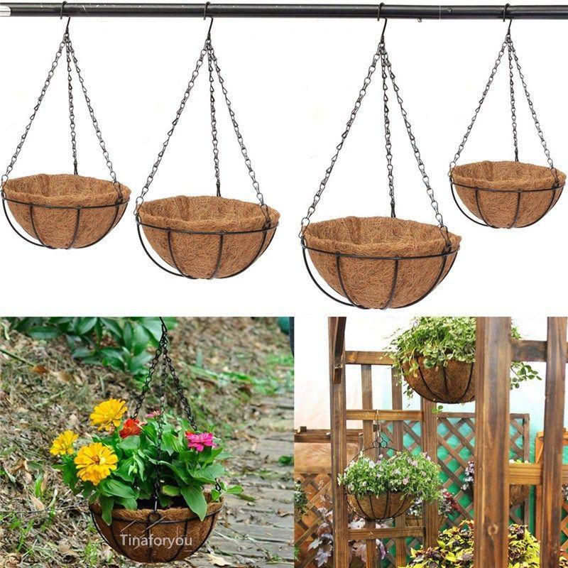 jardin planteur de fer mur suspendus pots de fleurs panier. Black Bedroom Furniture Sets. Home Design Ideas