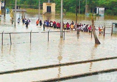en directo: Carcel la Victoria inundada y sobre poblada los in...