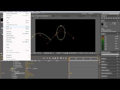 How to make particles move along a path, mask or shape with