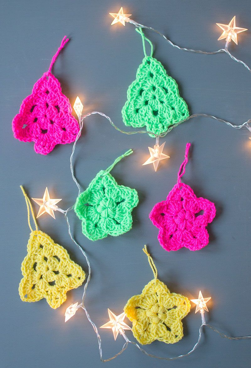 Crochet christmas tree and star ornaments crochet christmas crochet christmas tree and star ornaments bankloansurffo Choice Image