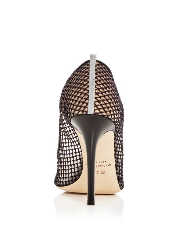 e21cf96a0b Sjp by Sarah Jessica Parker Women's Fawn Fishnet Pointed Toe Pumps   Fabric  upper, fabric