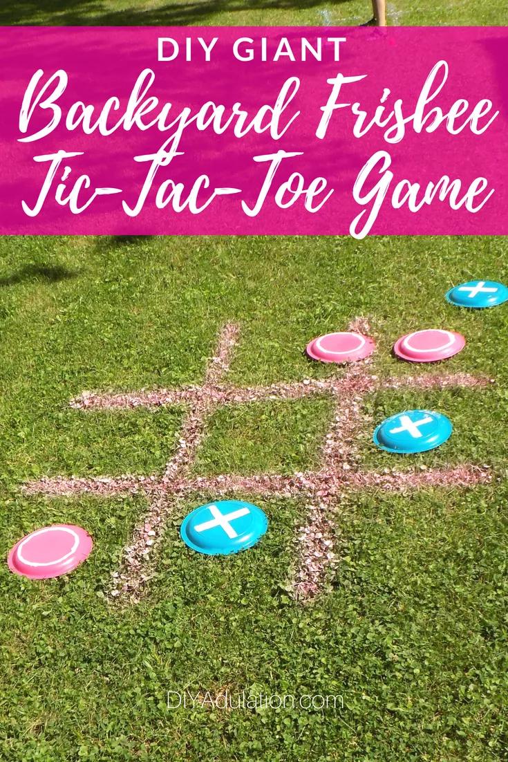 DIY Giant Backyard Frisbee Tic-Tac-Toe Game - DIY Adulation