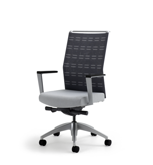 Sona Knit Back Task Chair With Fixed Arms View 1 Office 画像あり