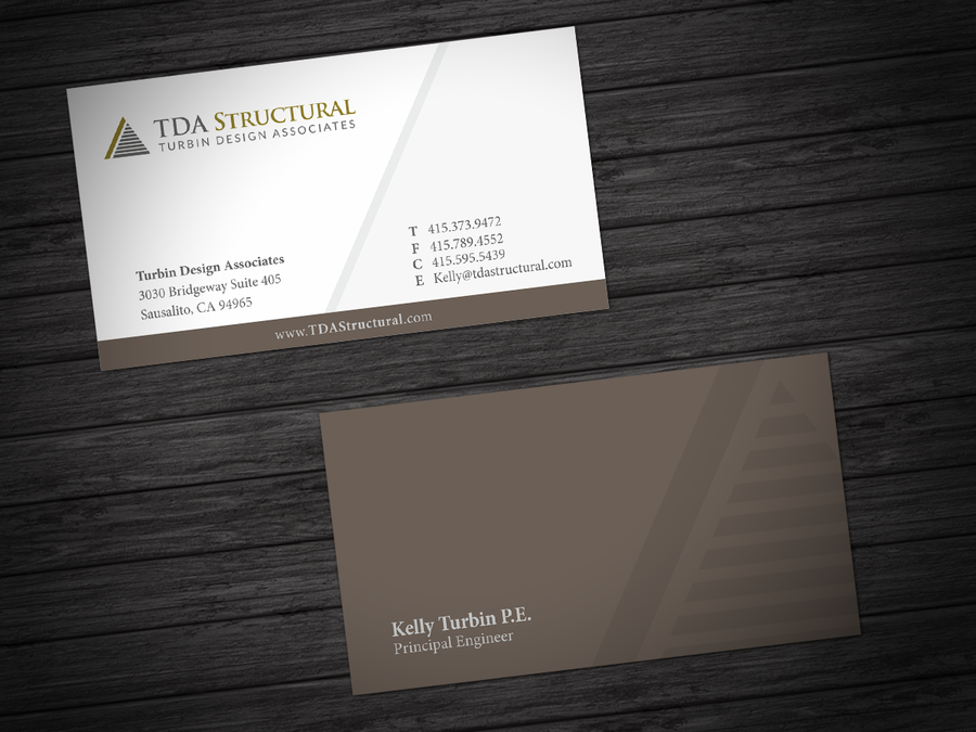 Freelance modern professional business card for a structural freelance modern professional business card for a structural engineering company by hypdesign reheart Choice Image