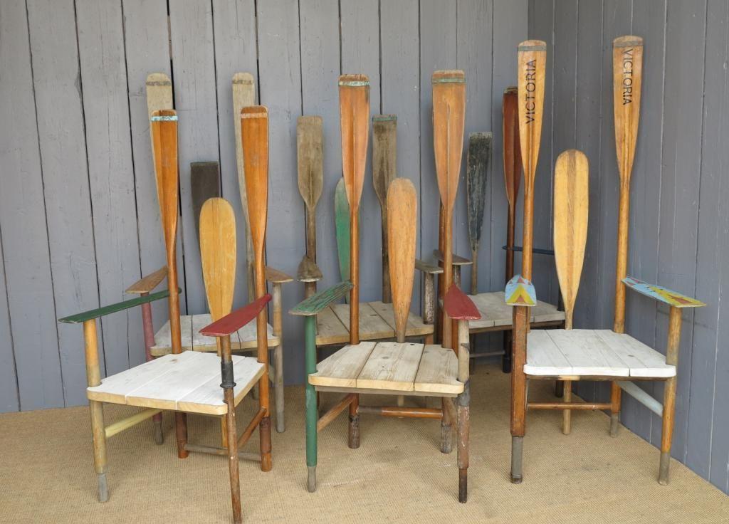 Unusual Rowing Theme Vintage Chair | Beach chairs, Beach ...