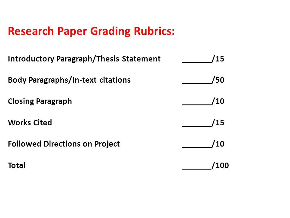 Research Paper Rubric 6th Grade This Delineates Specific Expectations About An Essay Assignment To Students