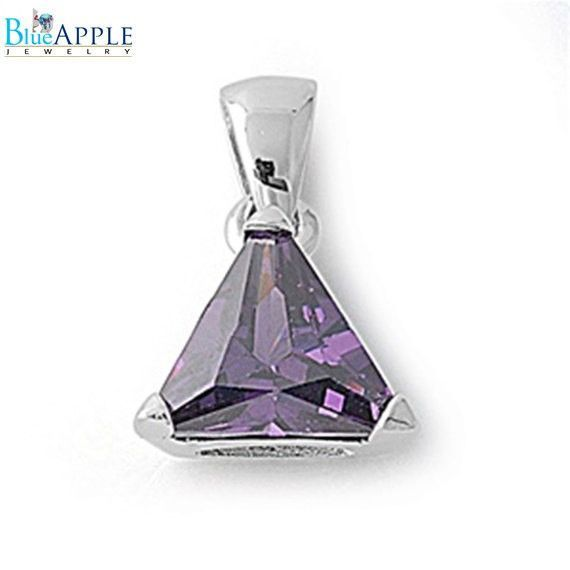 4.74CT Triangle Cut Alexandrite Light Amethyst Purple Solitaire Pendant Charm For Necklace 925 Sterling Silver Classic Mothers Gift